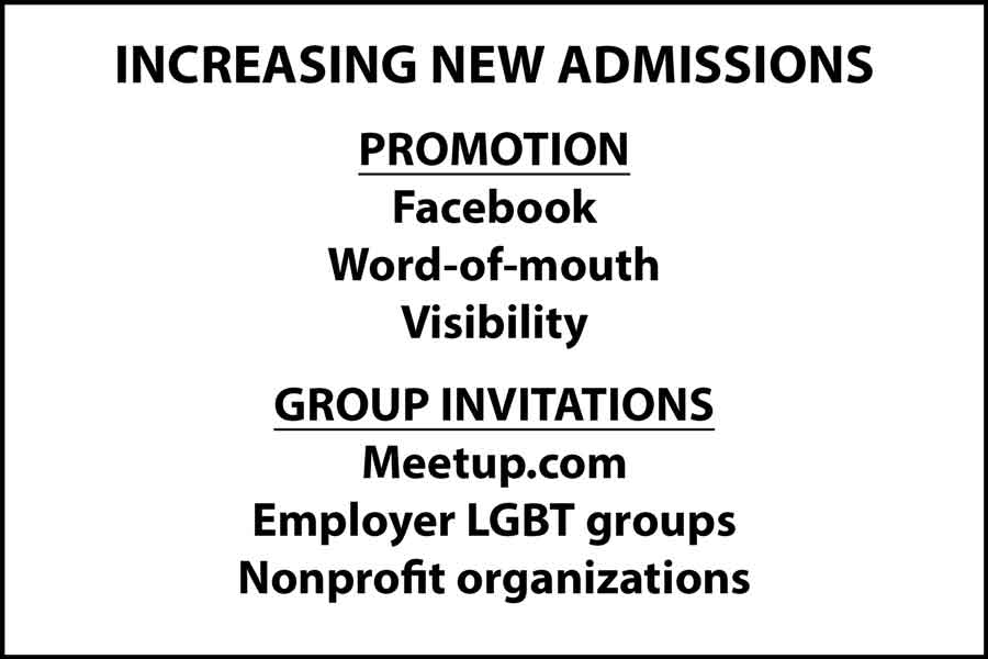 How to increase new admissions