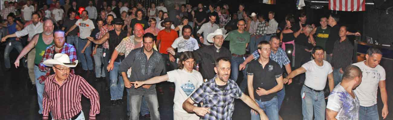 Line dancing at Sundance Saloon